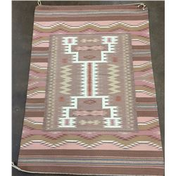Vintage Burntwater Storm Pattern Navajo Textile