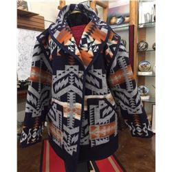 Pendleton Style Handmade Wool Coat