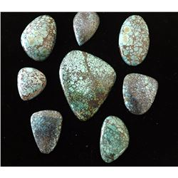 Group of Spiderweb Turquoise Cabochons