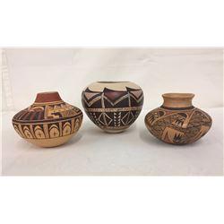 3 Hopi Pots