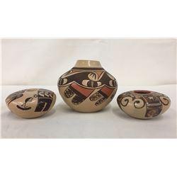 3 Hopi Pots - Adele Nampeyo