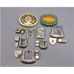 Group of Belt Buckles, Etc.