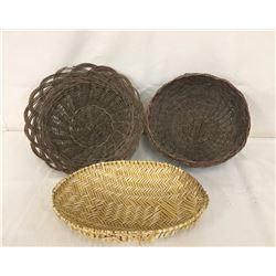 3 Pueblo-Hopi Sifter Baskets