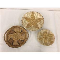 3 Tohono O'odham Baskets - Plaques