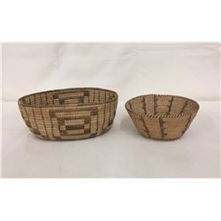 2 Vintage Pima Willow Baskets