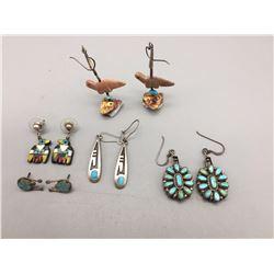Vintage Group of Native American Earrings