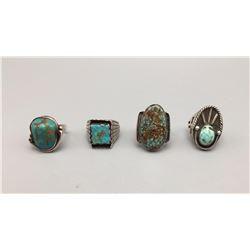 Group of 4 Vintage Rings