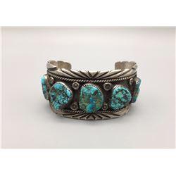 Five Stone Vintage Turquoise Bracelet