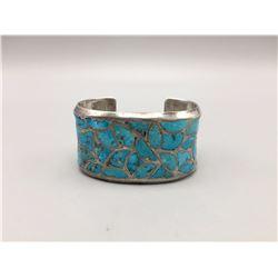 Zuni Fish Scale Inlay Bracelet