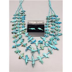 Older, Zuni Fetish Necklace and Earrings