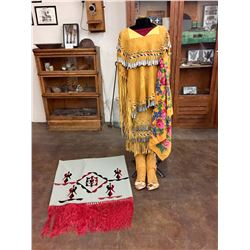 Apache Jingle Dress Dance Outfit and Accessories