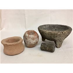 Group of Various Old Grinding Stones