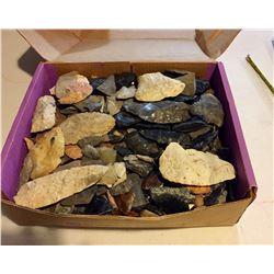 Box of Prehistoric Stone Knapping Items