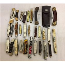 Group of Numerous Pocket Knives
