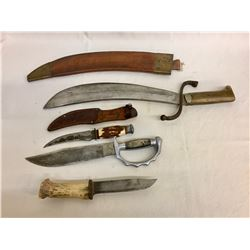 Group of Fixed Blade Knives - Machete
