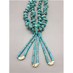 Large Turquoise and Shell, Jocla Necklace