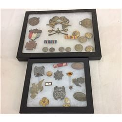 World War II Militaria/Medals Displays