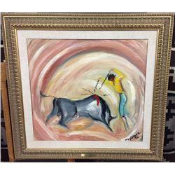 Rare! Original Ted DeGrazia Oil Painting
