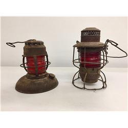 Antique Red Signal Lanterns