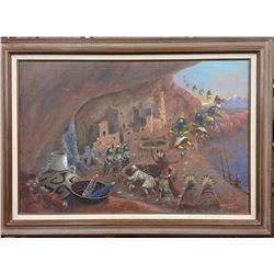 Large ORIGINAL Robert Yellowhair Oil Painting