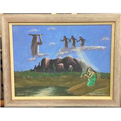 Original Oil Painting from O'Odham Tash Days