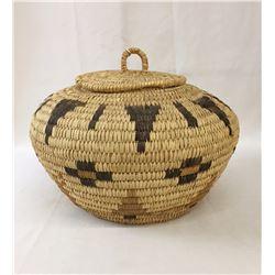 Vintage Tohono O'Odham Lidded Basket