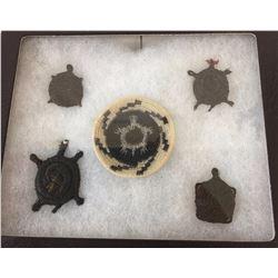 Tohono O'Odham Horse Hair Basket Display, Turtles