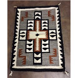 Two Grey Hills Style Navajo Textile