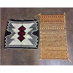 Pair of Vintage Navajo Weavings