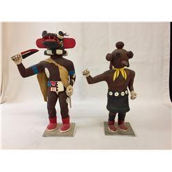 Pair of Vintage Hopi Kachinas