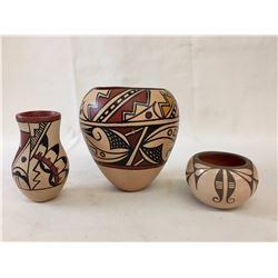 Group of Jemez Pottery