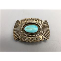 Vintage Smaller Sized Turquoise Belt Buckle