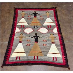 Early, Large Navajo Pictorial Textile