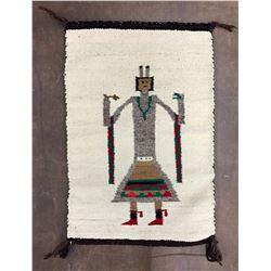 Single Figure Yei Navajo Textile