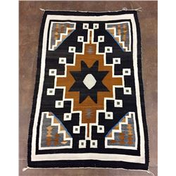 Fine Churro Two Grey Hills Navajo Textile