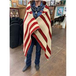 Antique Navajo Serape Blanket - Textile