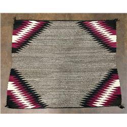 Churro Wool Navajo Saddle Blanket-Textile
