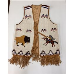 Fully Beaded Sioux Pictorial Vest