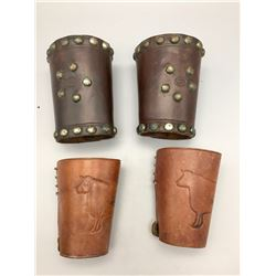 2 Pair of Leather Cuffs
