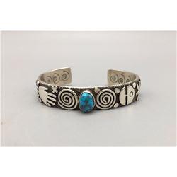 Alex Sanchez - Turquoise and Sterling Silver Bracelet