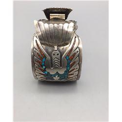 Navajo Inlay Watch Bracelet