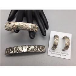 Bracelet, Earrings and Barrette - Skeets