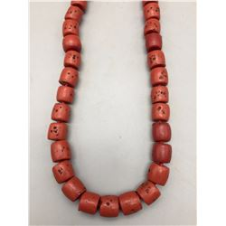 Chunky Apple Coral Necklace