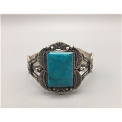 Sterling Silver and Turquoise Bracelet - S Tso