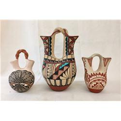 3 Pueblo Wedding Vases