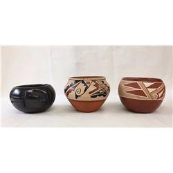 3 Pueblo Pots