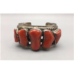 5 Stone Coral Bracelet