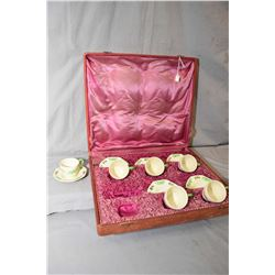 "Royal Doulton "" Gaylady"" RN731190 demitasse tea set with six cups and saucers in fitted box"