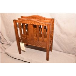 Quarter saw oak Mission style magazine rack circa 1940