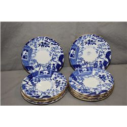 Twelve Royal Crown Derby Mikado side plates